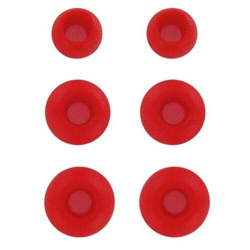 Комплект амбушюр Krutoff для наушников (3 пары размер S M L) красные