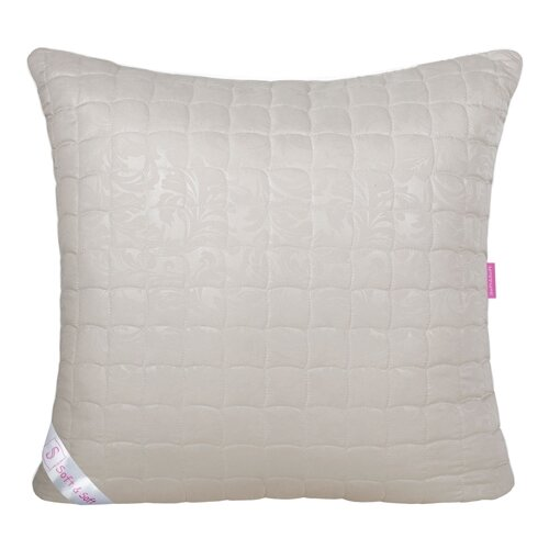 Подушка Традиция Soft&Soft Эвкалипт 50 х 70 см микрофибра бежевый