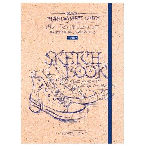 Купить Скетчбук для зарисовок и для записей Hatber Рисунки чернилами 21 х 14.8 см (A5), 100 г/м², 130 л., Альбомы для рисования
