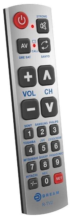 Купить Пульт универсальный R-TV2 для телевизоров серебро по низкой цене с доставкой из Яндекс.Маркета