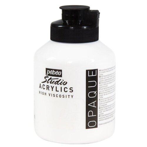 Купить Pebeo Краска акриловая Studio Acrylics, 500 мл белила титановые, Краски