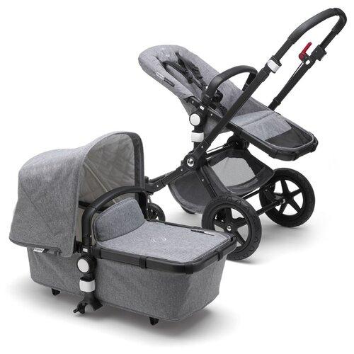 Универсальная коляска Bugaboo Cameleon3 Plus (2 в 1) black/grey melange/grey melange, цвет шасси: черный