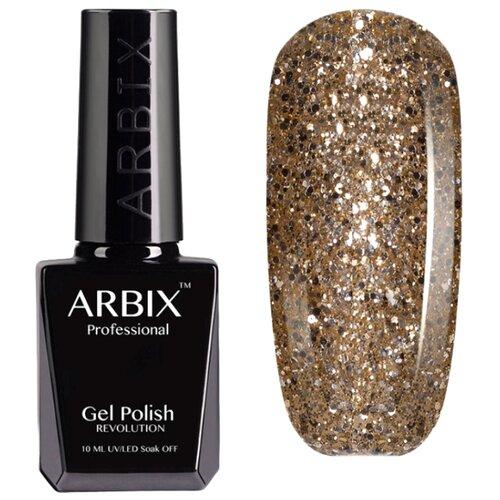 Купить Гель-лак для ногтей Arbix Classic (glitter), 10 мл, 017 Золотая антилопа