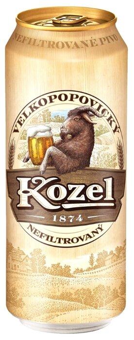 Пиво светлое Velkopopovicky Kozel Nefiltrovany 0.5 л