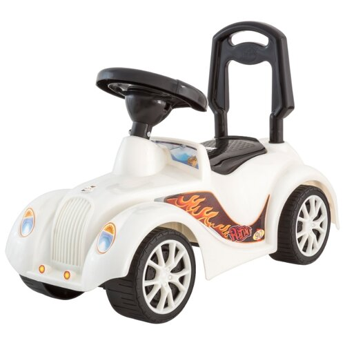 Купить Каталка-толокар Orion Toys Ретро (900) со звуковыми эффектами белый, Каталки и качалки
