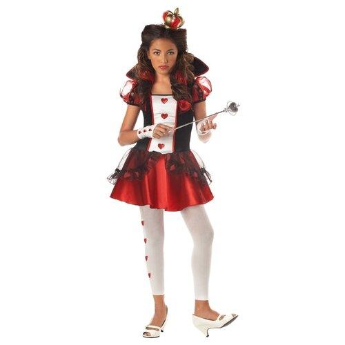 Купить Костюм California Costumes Королева Червей 04036, черный/красный, размер XL (12-14 лет), Карнавальные костюмы