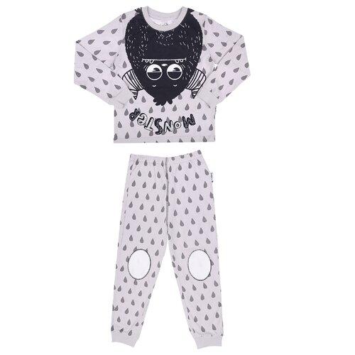 Купить Пижама RuZ Kids размер 122-128, серый, Домашняя одежда