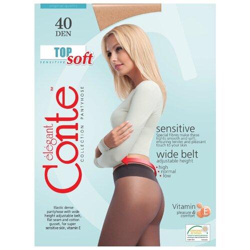 Фото - Колготки Conte Elegant Top Soft 40 den, размер 3, natural (бежевый) колготки conte elegant active soft 40 den размер 3 natural бежевый