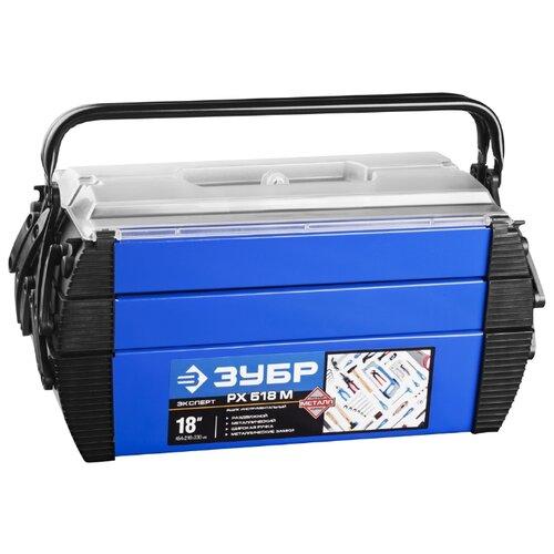 Ящик ЗУБР Дока (38163-18) 45.4x21x23 см 18'' синий/черный
