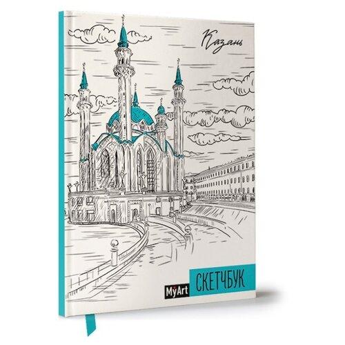 Купить Скетчбук Prof-Press Казань 21 х 14.8 см (A5), 100 г/м², 80 л., Альбомы для рисования