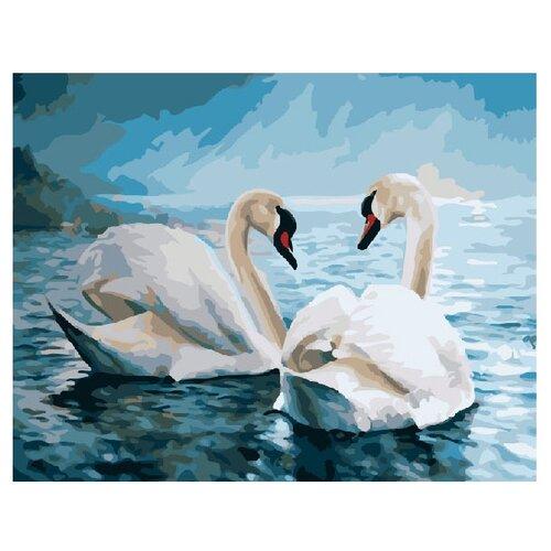 Купить ВанГогВоМне Картина по номерам Прекрасные лебеди , 40х50 см (ZX 20182), Картины по номерам и контурам
