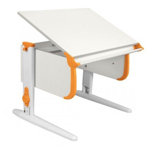 Стол ДЭМИ СУТ-24 75x55 см белый/оранжевый/белый, Парты и столы  - купить со скидкой
