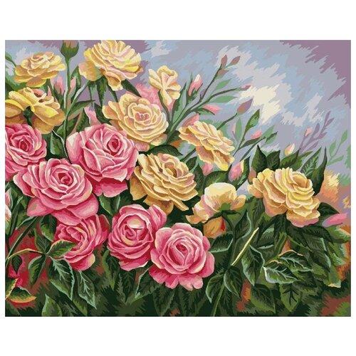 Купить Картина по номерам Розы. Жанна Когай , 40x50 см, ФРЕЯ, Картины по номерам и контурам