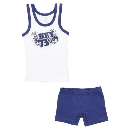 Купить Комплект нижнего белья RuZ Kids размер 128-134, белый/синий, Белье и пляжная мода