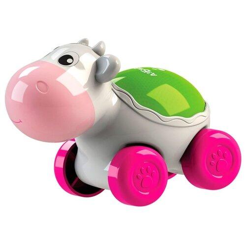Развивающая игрушка Азбукварик Люленьки Коровка Светяшка белый фото