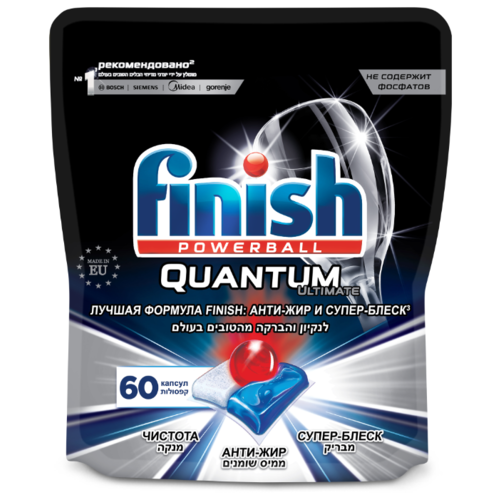 Finish Quantum Ultimate таблетки (original) дойпак для посудомоечной машины, 60 шт.