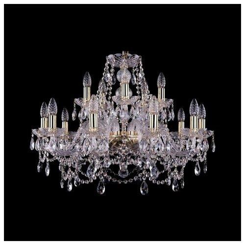 Люстра Bohemia Ivele Crystal 1411 1411/10+5/240/G, E14, 600 Вт bohemia ivele crystal подвесная люстра 1411 12 380 72 g