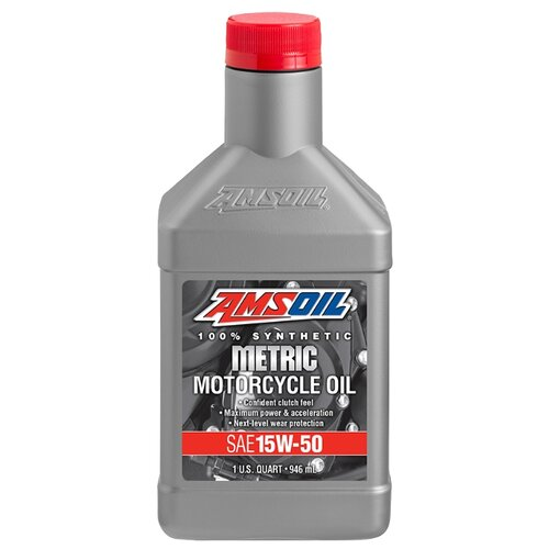 Моторное масло AMSOIL Synthetic Metric Motorcycle Oil 15W-50 0.946 л