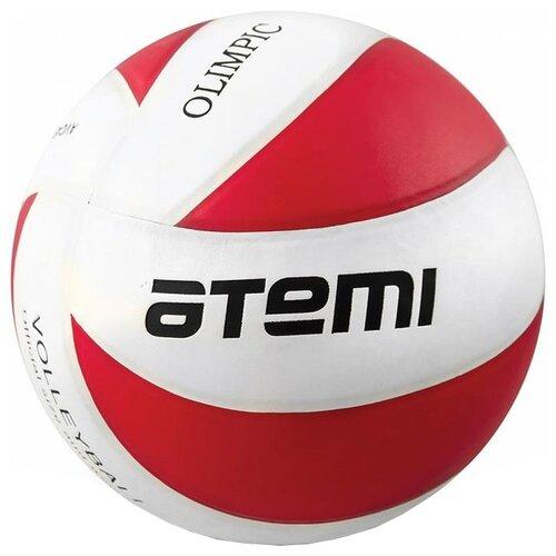 Волейбольный мяч ATEMI Olimpic красно-белый