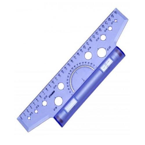 Купить СТАММ Рейсшина 30 см (ЛР25) прозрачный/синий, Чертежные инструменты