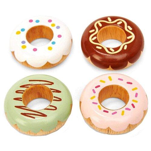 Купить Набор продуктов Le Toy Van Doughnuts TV332 бежевый, Игрушечная еда и посуда