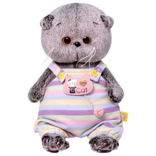 Купить Мягкая игрушка Basik&Co Кот Басик baby в полосатом комбинезончике 20 см, Мягкие игрушки
