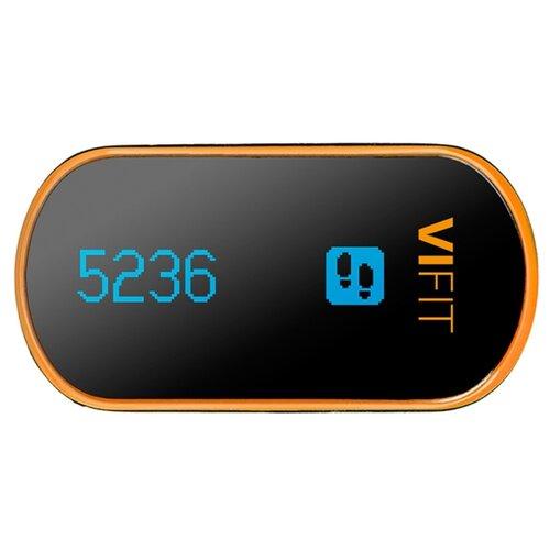 Шагомер Medisana ViFit Connect черный/оранжевый