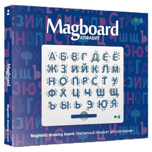 Планшет детский Назад К Истокам Magboard Алфавит белый