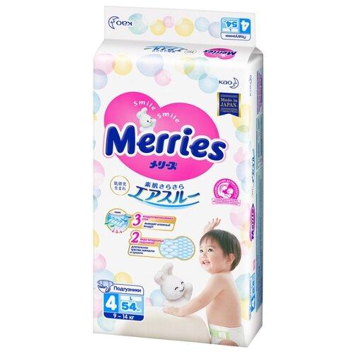 Купить Merries подгузники L (9-14 кг), 54 шт., Подгузники