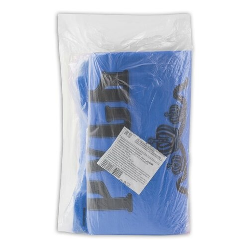 Пакет-майка Юпласт Русь 30(+16)х55 см 25 мкм синий 100 шт.