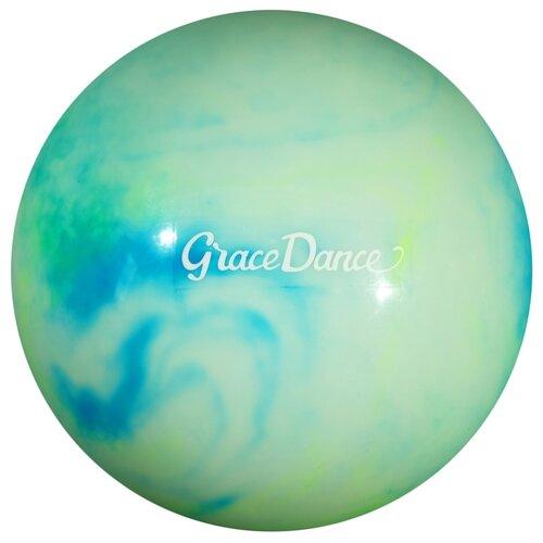 Мяч для художественной гимнастики Grace Dance 4530075 зеленый/голубой