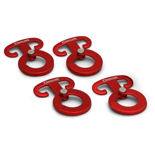 Зажим анкерный (4 шт.) Coghlan's Anchor Clips 2070 red