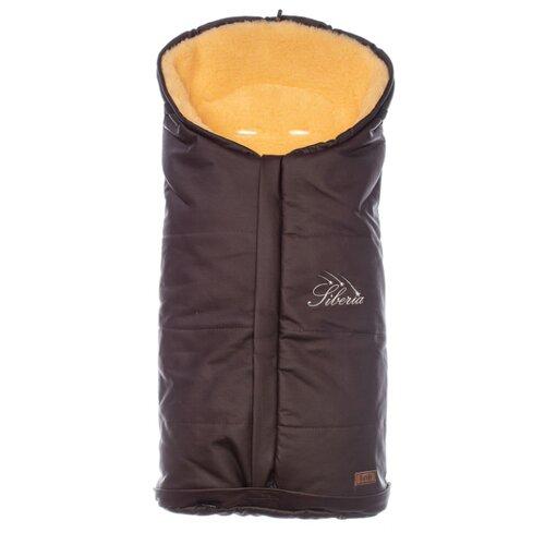 Купить Конверт-мешок Nuovita Siberia Lux Pesco меховой 90 см шоколад, Конверты и спальные мешки