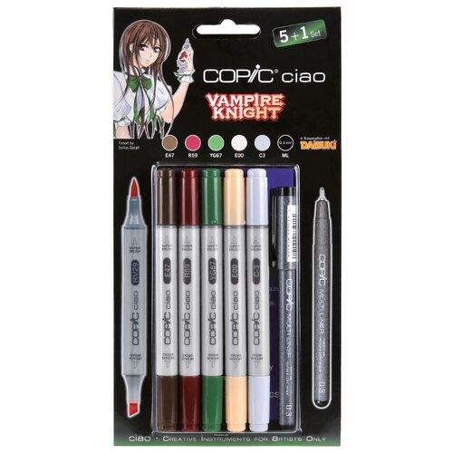 Купить COPIC набор маркеров Ciao Vampire Knight (H22075567), 5 шт. + мультилайнер, Фломастеры