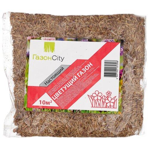 Смесь семян для газона ГазонCity Настоящий Цветущий газон, 0.3 кг смесь семян газонcity настоящий солнечный газон 1 кг