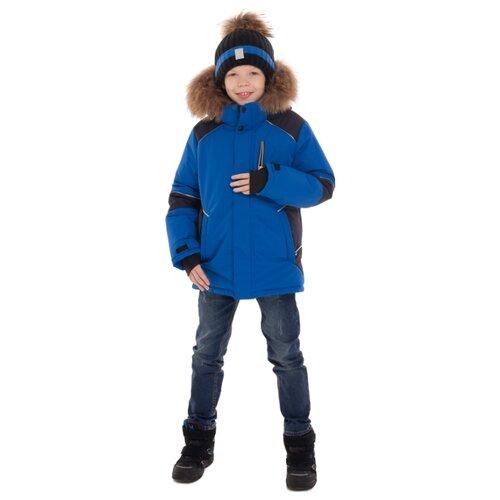 Купить Куртка Stella М-469 размер 140, черный/синий, Куртки и пуховики
