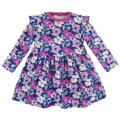 Платье Bossa Nova размер 80, фиолетовый/розовые цветыПлатья и юбки<br>