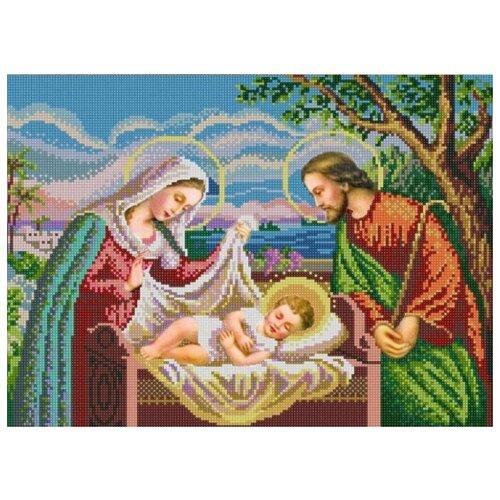Купить Святое семейство (рис. на сатене 29х39) 29х39 Конек 9979, Конёк, Канва