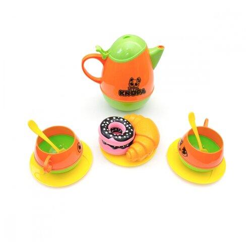 Купить Набор продуктов с посудой Knopa Пора пить чай 87058 разноцветный, Игрушечная еда и посуда