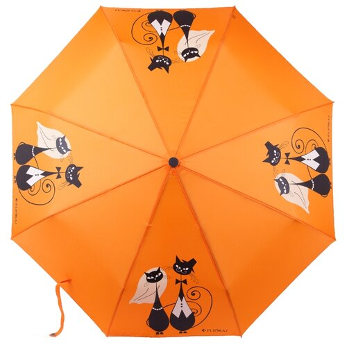 Зонт автомат FLIORAJ Кошки оранжевый