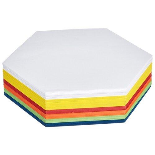 Карты модерационные Комус шестиугольник, 250 листов