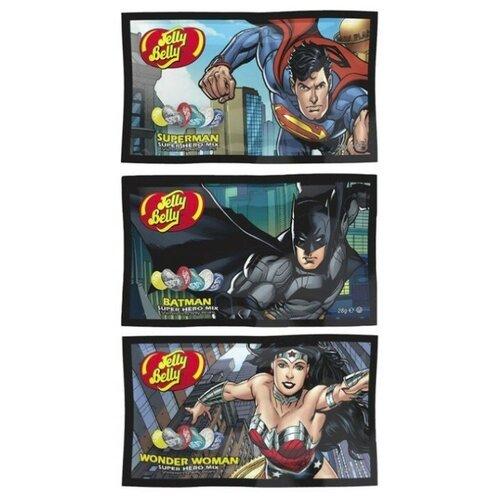 Конфеты Jelly Belly DC Super Hero Superman 28 гр. + DC Super Hero Batman 28 гр. + DC Super Hero Wonder Woman 28 гр. (3 шт) fashion movie jewelry the avengers 3 series super hero batman necklace superman batman war batman superman for women men