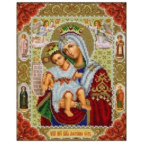 Купить Набор Богородица Достойно Есть (Милующая) 20х25 Паутинка Б-1061, Наборы для вышивания
