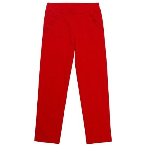 Фото - Брюки Chinzari Новая Зеландия 30205054/03 размер 128/134, красный chinzari платье chinzari детское трикотажное италия рыбки 128 134