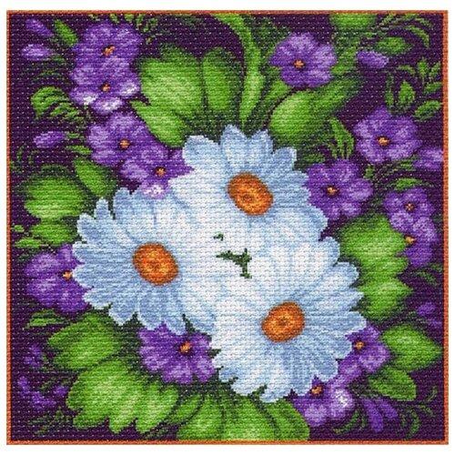 голубая фантазия набор для вышивания бисером 41х41 34х34 матренин посад 0153 б Ромашки Набор для вышивания крестом 41х41 (34х34) Матренин Посад 1096/Н