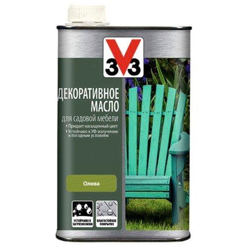 Масло V33 декоративное, для садовой мебели, олива, 0.5 л