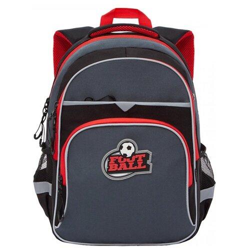 Купить Grizzly Рюкзак школьный, черный -красный, RB-157-3/1, Рюкзаки, ранцы