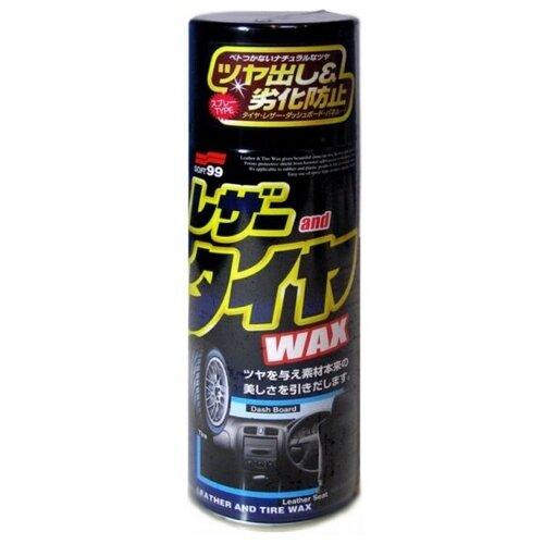 Soft 99 Защитное покрытие + полироль для пластика и кожи Leather and Tire Wax (02001)