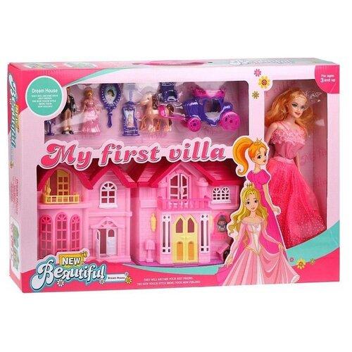 Купить Наша игрушка Кукольный домик My First Villa 426, розовый, Кукольные домики
