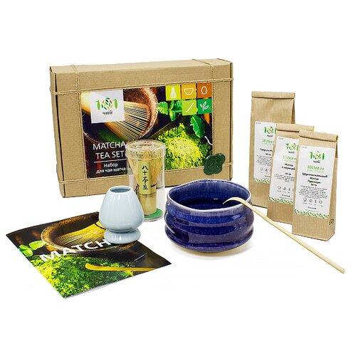 цена на Чай зеленый 101 чай Matcha tea set подарочный набор, 70 г